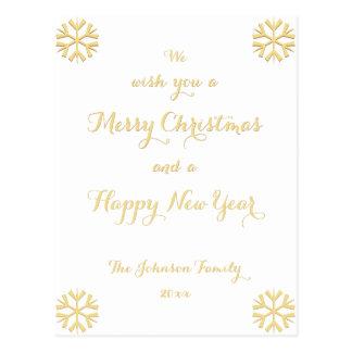 Postal Día de fiesta de encargo de la Feliz Año Nuevo de