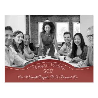 Postal Día de fiesta personalizado w/Photo del negocio