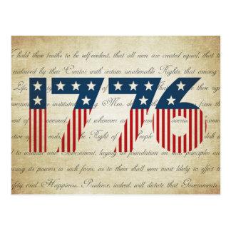 Postal Día de la Independencia de las barras y estrellas