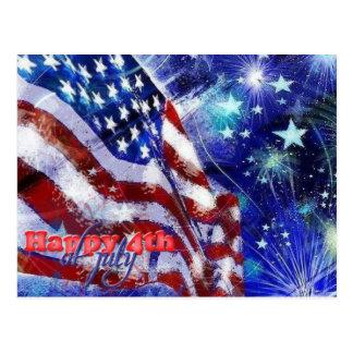 Postal Día de la Independencia y 4 de julio