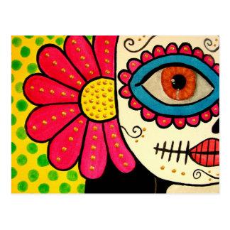 """Postal día de """"Rosa Mexicano"""" - de los muertos"""