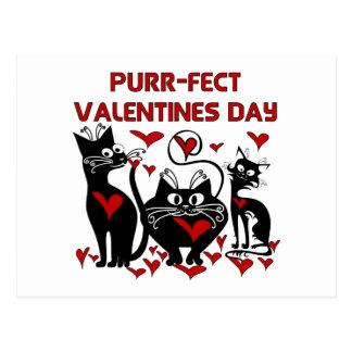Postal Día de San Valentín del Ronroneo-fect