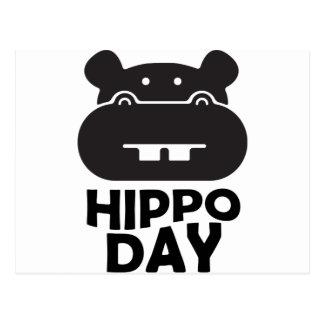Postal Día del hipopótamo - 15 de febrero