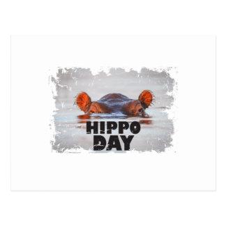 Postal Día del hipopótamo - 15 de febrero - día del