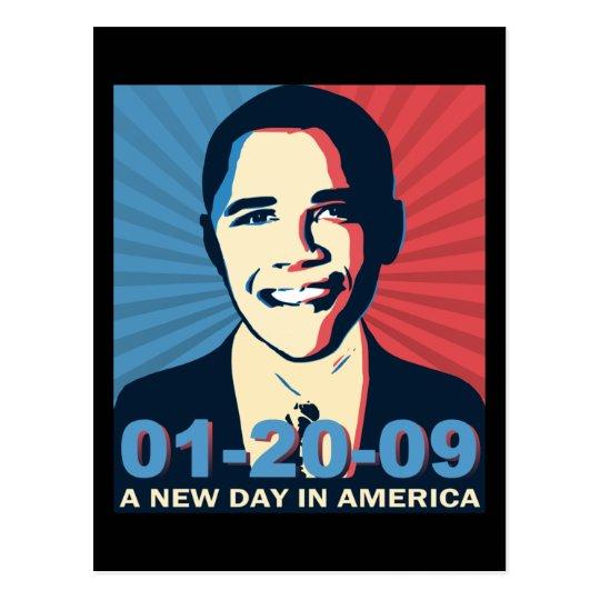 Postal Día del retrato de la inauguración de Obama nuevo