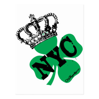 Postal Día del St. Patricks del trébol de NYC New York