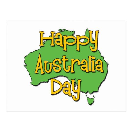 Postal Día feliz de Australia