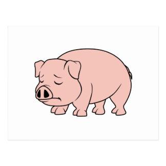 Postal Día nacional gritador del cerdo del cochinillo