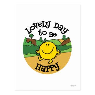 Postal Día precioso a ser Sr. Happy