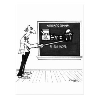 Postal Dibujo animado 5850 de la matemáticas