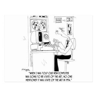 Postal Dibujo animado 7058 del ordenador