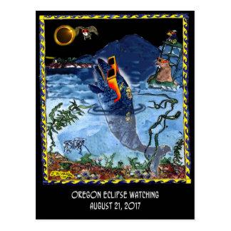Postal Dibujo animado 9524 del eclipse