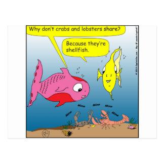 Postal dibujo animado de 441 crustáceos