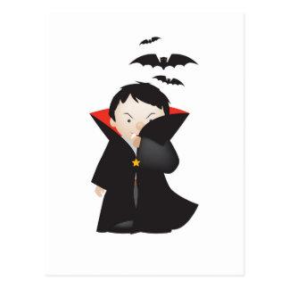 Postal dibujo animado de Drácula