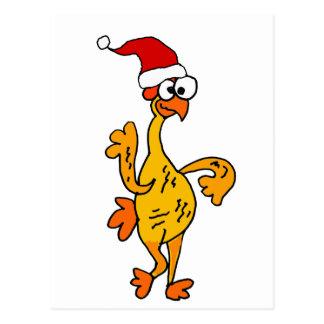 Postal Dibujo animado de goma divertido del navidad del