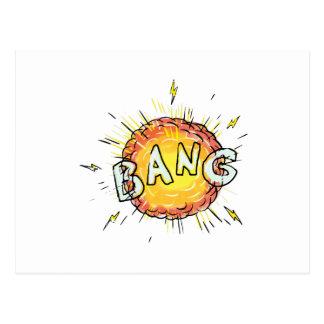 Postal Dibujo animado de la explosión de la explosión
