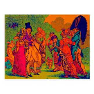 Postal dibujo animado de la moda de los invisibles 1810