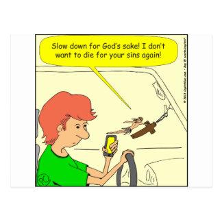 Postal Dibujo animado del retraso de 476 Jesuses