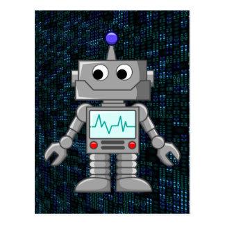 Postal dibujo animado del robot