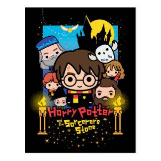 Postal Dibujo animado Harry Potter y la piedra del