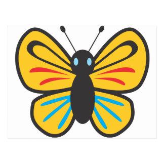 Postal Dibujo animado lindo del monarca de la mariposa