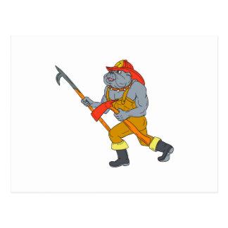 Postal Dibujo del hacha del fuego de Pike poste del