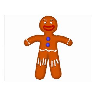 Postal Dibujo del hombre de pan de jengibre