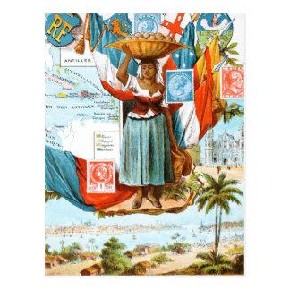 Postal Dibujo del vintage: Antillas holandesas