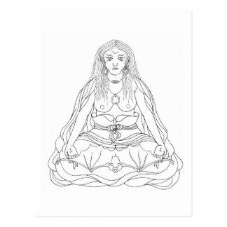 Postal Dibujo lineal de Khandro Rig'dzin Takmo [postal]