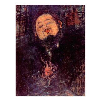 Postal Diego Rivera de Amedeo Modigliani