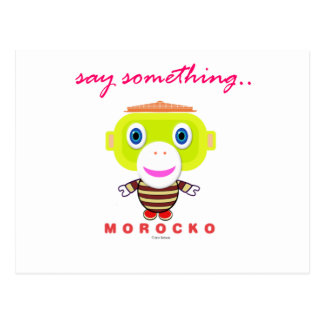 Postal Diga el Mono-Morocko Algo-Lindo