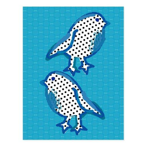 """postal digital de la pintura de los """"pájaros azule"""