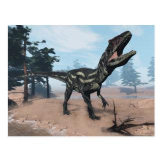 Postal Dinosaurio del Allosaurus que ruge - 3D rinden