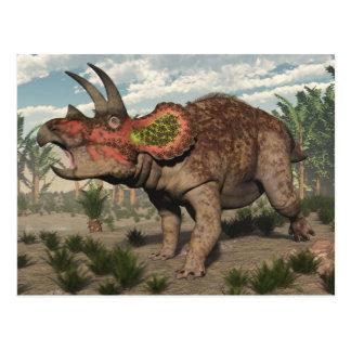 Postal Dinosaurio del Triceratops - 3D rinden