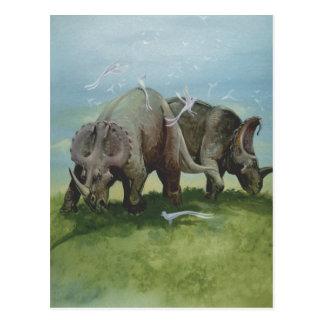 Postal Dinosaurios del vintage, Centrosaurus que pasta en