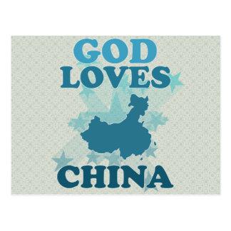 Postal Dios ama China