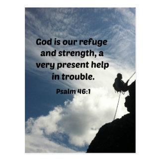 Postal Dios del 46:1 del salmo es nuestro refugio y