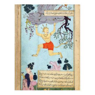 Postal Dios del mono de Ramayana