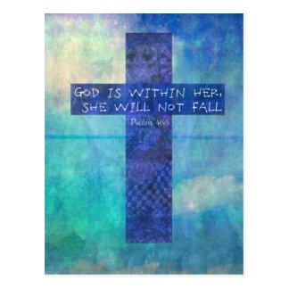 Postal Dios es dentro de ella 46:5 del salmo del verso de