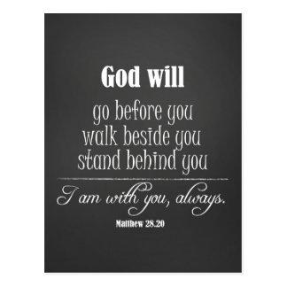 Postal Dios inspirado citará con verso de la biblia