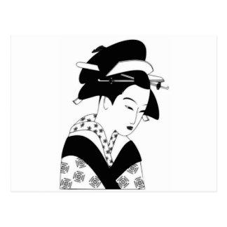 Postal diosa japonesa justa