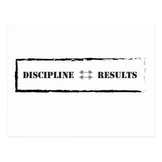 Postal Disciplina = resultados