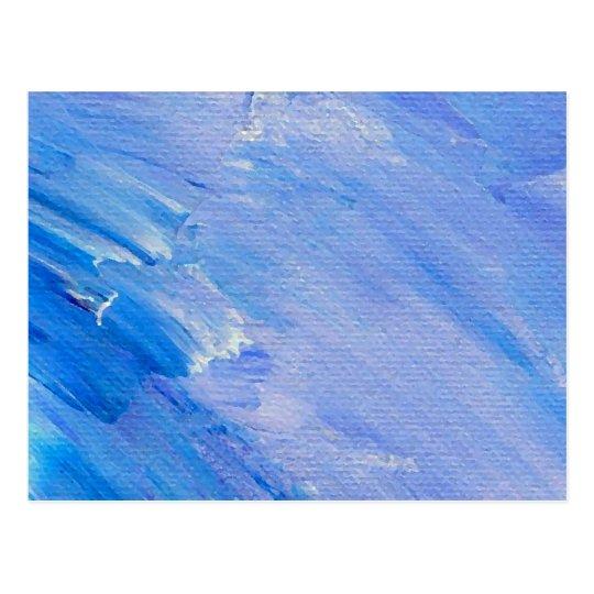Postal Diseño adaptable abstracto pintado azul