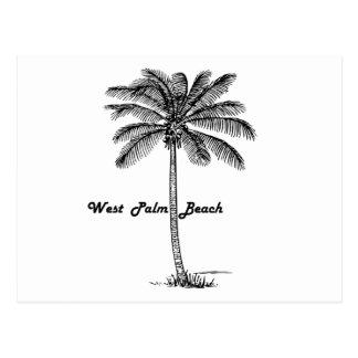 Postal Diseño blanco y negro de West Palm Beach y de la