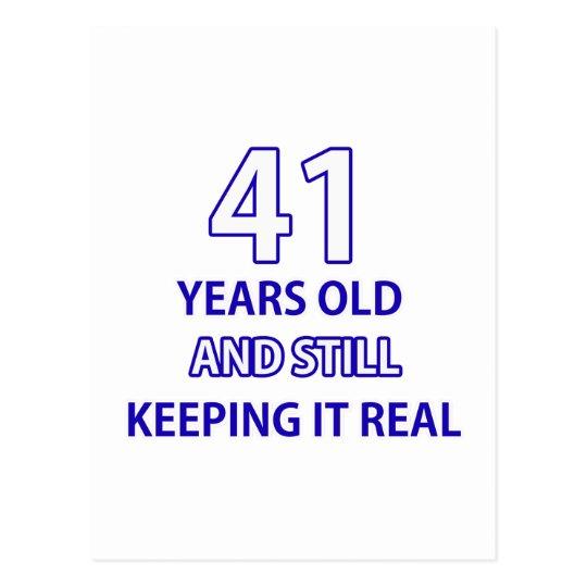 Postal diseño de 41 cumpleaños