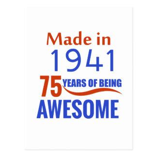 Postal diseño de 75 cumpleaños
