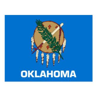 Postal Diseño de la bandera del estado de Oklahoma