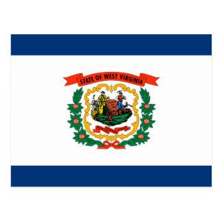 Postal Diseño de la bandera del estado de Virginia