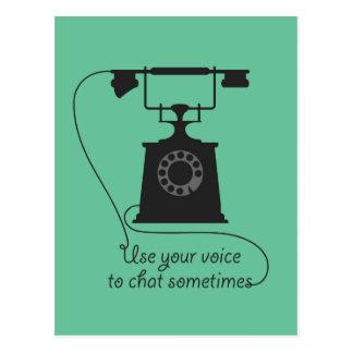 Postal Diseño de la cita para animar la comunicación