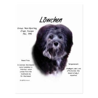Postal Diseño de la historia de Löwchen